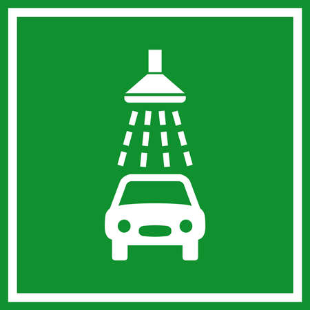 wash: Car wash sign