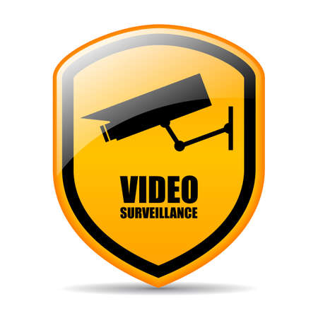 cams: Video surveillance vector sign Illustration