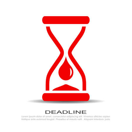 Time is over icon Vector