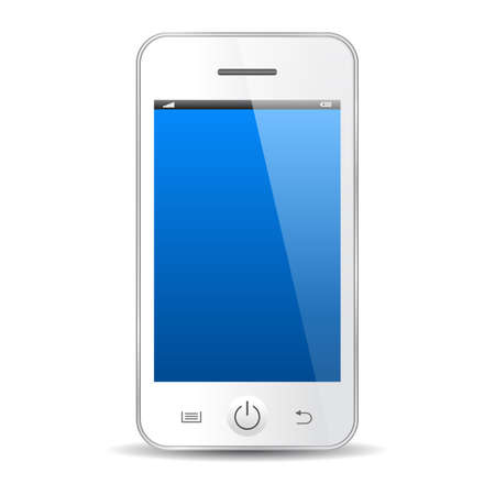 Mobile phone white icon Vector