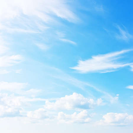 sunny sky: Blue sky, natural background Stock Photo