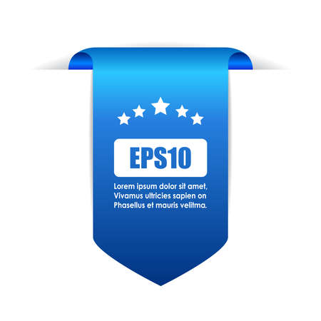Blue bookmark ribbon Vettoriali