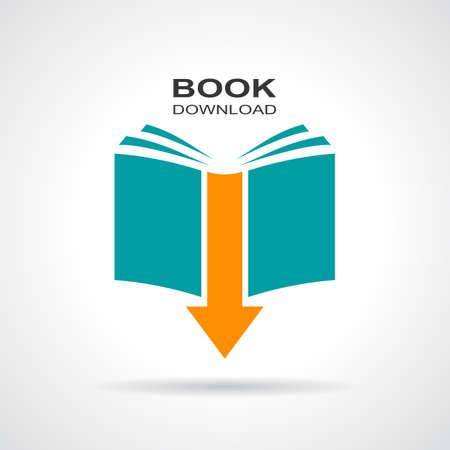 literatura: Libro icono de descarga Vectores