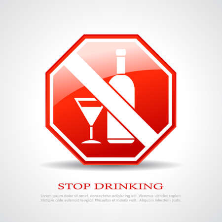 Stop drinking sign Vector