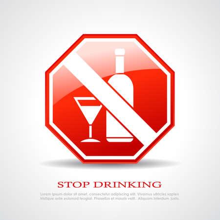 spirituous beverages: Stop drinking sign