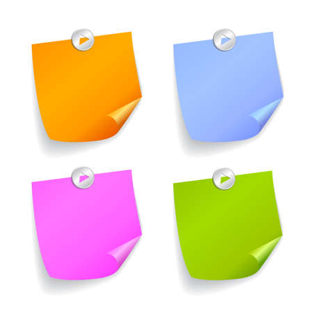 post it notes: Square stickers Illustration