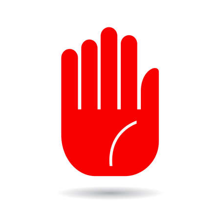 stop sign: Hand palm icon