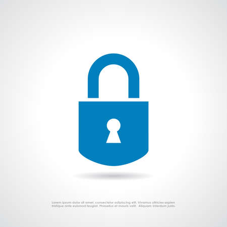 closed lock: Padlock icon