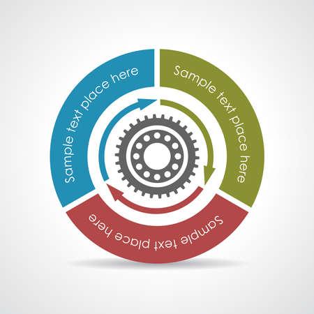 ciclo de vida: Diagrama vectorial Proceso Vectores