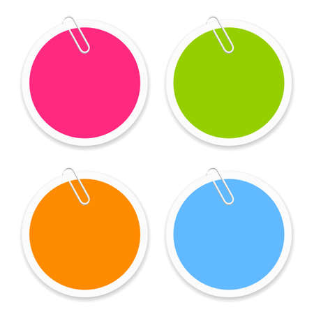 post it notes: Round sticker Illustration