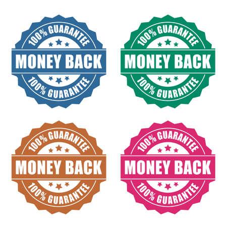 rosa: Geld-zurück-Garantie Symbol