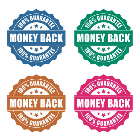 back button: Money back guarantee icon