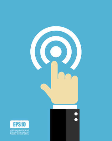 touch sensitive: Press button icon