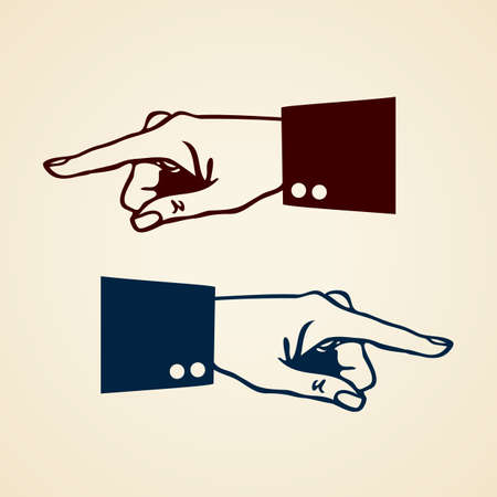 left right: Pointing hand icon