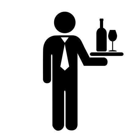 serving tray: Waiter icon