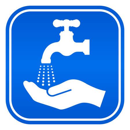 Hände waschen Zeichen Standard-Bild - 38614625