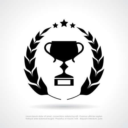 winner: Copa y corona de laurel emblema Vectores