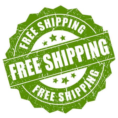 Free shipping grunge stamp  イラスト・ベクター素材
