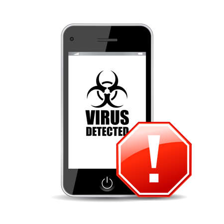 Mobile virus icon Vector