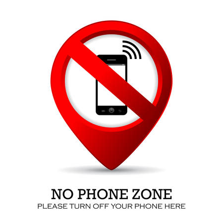 cell phones not allowed: No phone sign