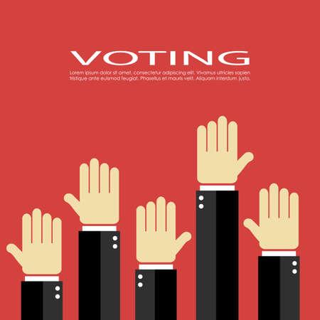 Voting vector icon