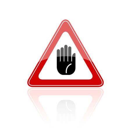 Stop hand sign Vector