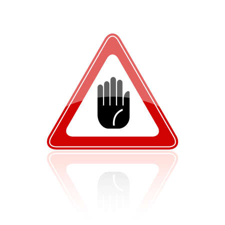 stop hand: Stop hand sign