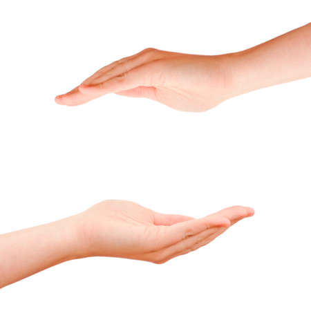 protection hands: Two cupped hands