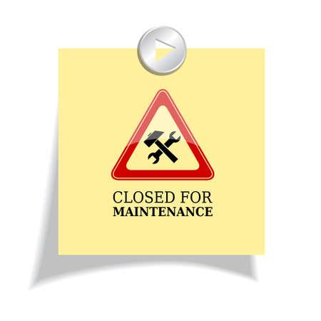 mantenimiento: Cerrado por signo mantenimiento