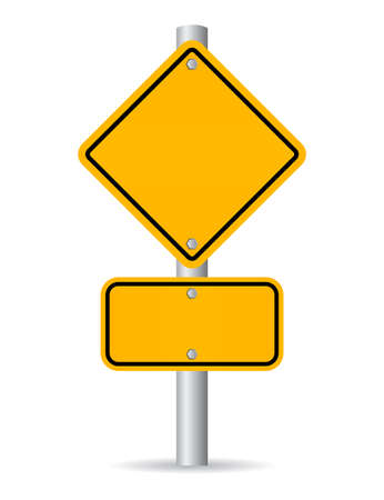 sign blank sign: Blank road sign