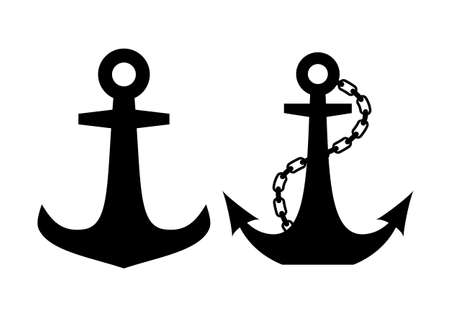 seafaring: Anchors icons set