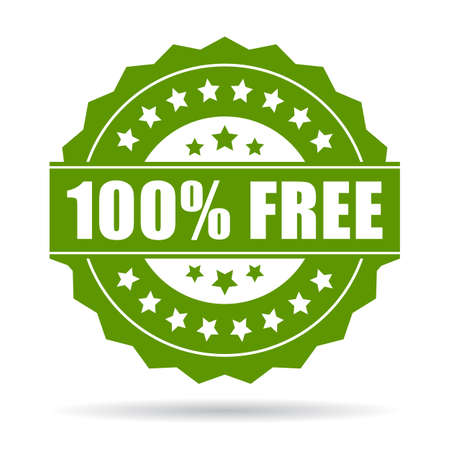 100 gratis pictogram  Stockfoto - 38615218