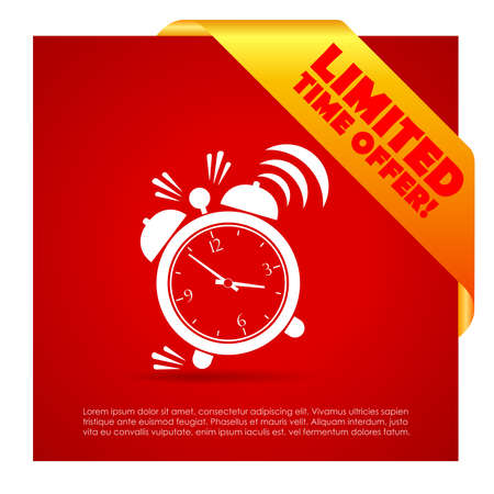 Limited time offer poster Vector