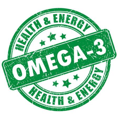 canola: Omega 3 vector stamp