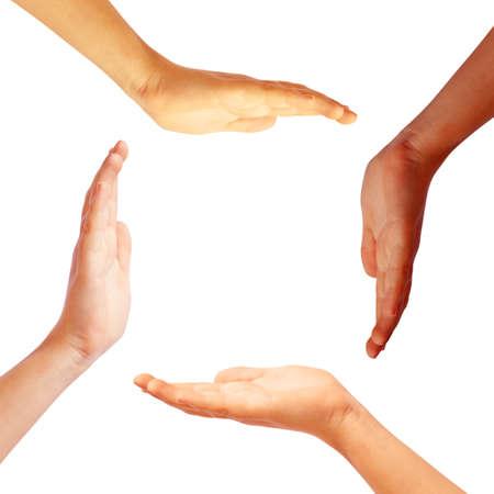 Hands circle photo