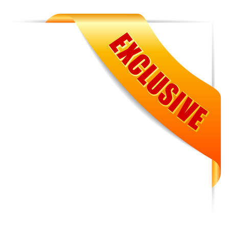 exclusive: Exclusive offer ribbon Illustration