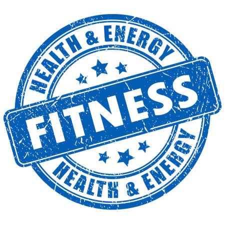 fitness training: Fitness stempel Stock Illustratie