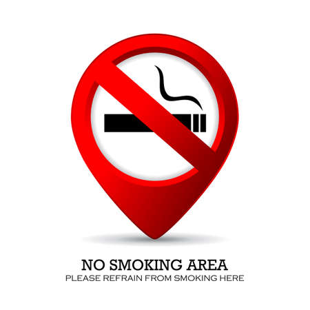 smoking place: No smoking area marker Illustration