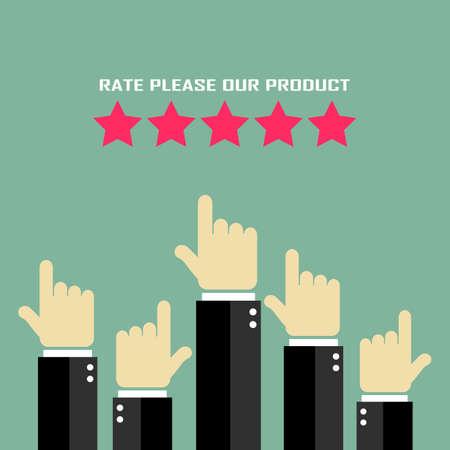 Evaluation du produit affiche Illustration