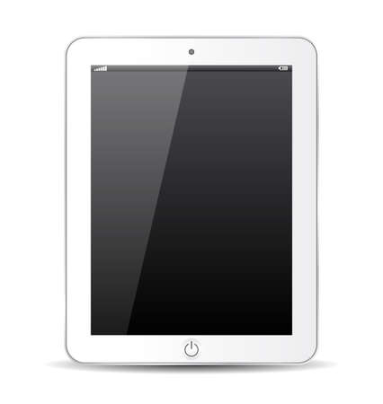 modern palmtop: White tablet, abstract model