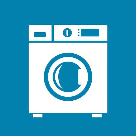 auto washing: Washing machine icon Illustration