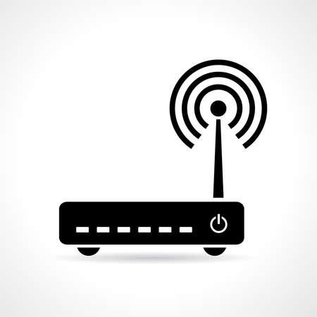 modem: Modem vector icon Illustration