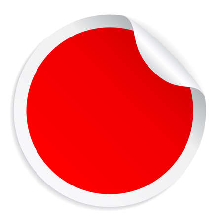 Red round sticker