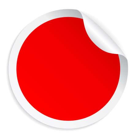Red round sticker Zdjęcie Seryjne - 39301732