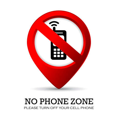 Turn off phone sign Vector
