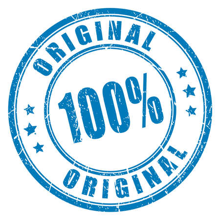 genuine: 100 original vector stamp Illustration