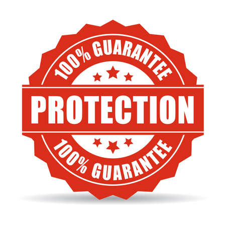 trusted: 100 protection guarantee icon