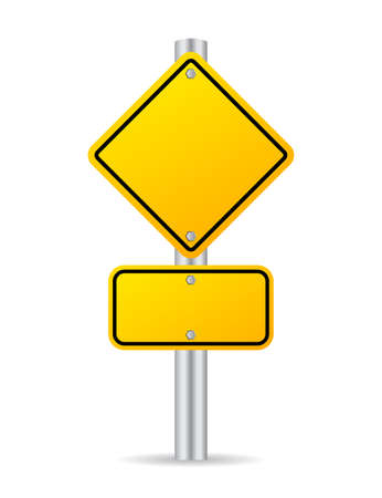 yellow vector: Road traffic sign