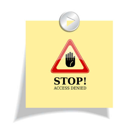 Stop sticker Vector