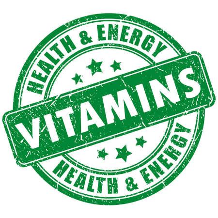 Vitamins stamp Vector